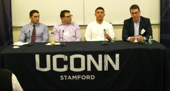 Panelists for Alumni Networking Event Spring 2016